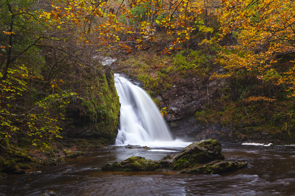 Photo of waterfall you could visit during your Ireland honeymoon.