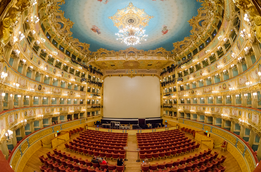 Teatro Le Fenice is a gorgeous theatre in Venice