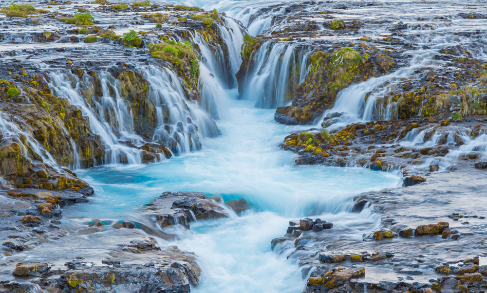 Bruarfoss waterfall during your 4 days in Iceland