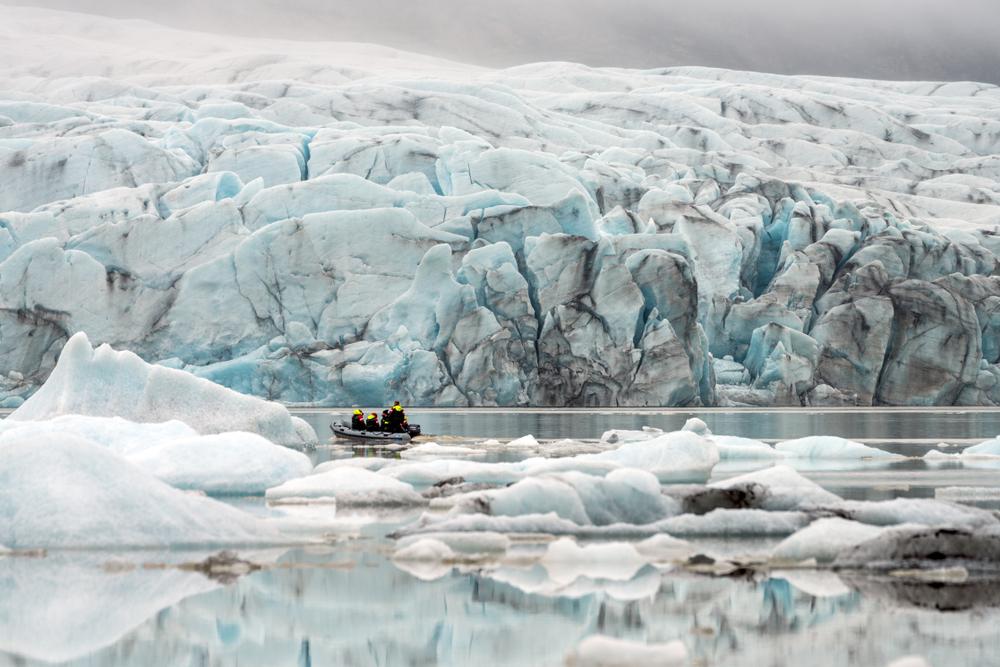 Fjallsarlon Glacier Lagoon during your 4 days in Iceland