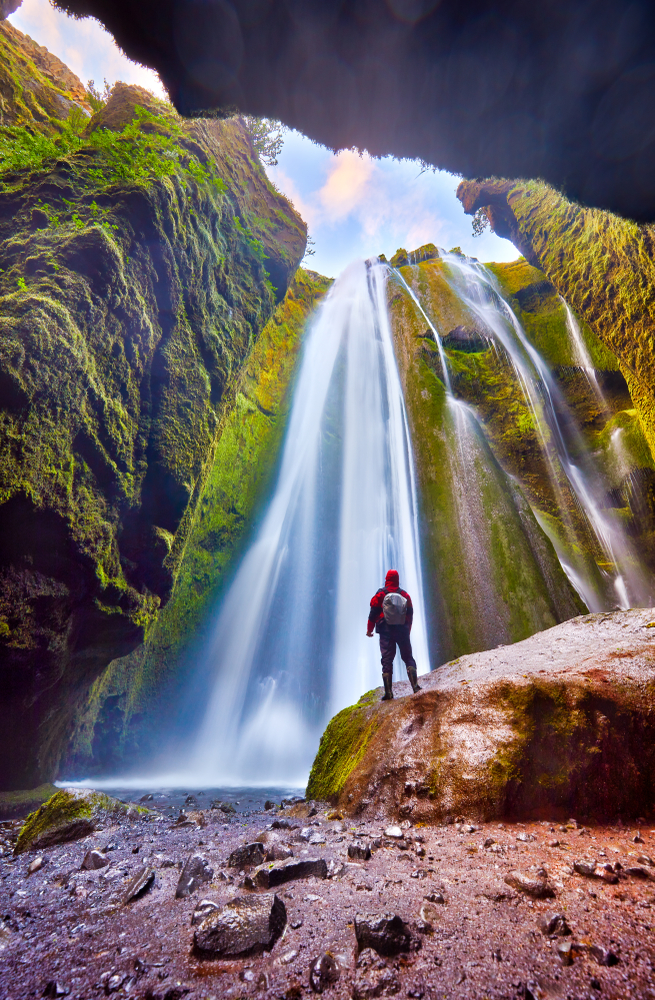 Gljufrabui hidden waterfall during your 4 days in Iceland