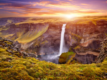 Haifoss during your 4 days in Iceland