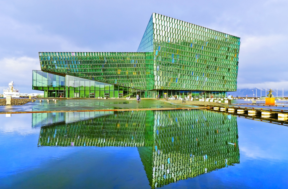 Harpa Concert Hall during your 4 days in Iceland