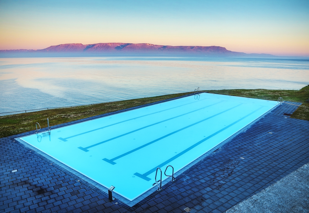 outdoor swimming pool during your 4 days in Iceland