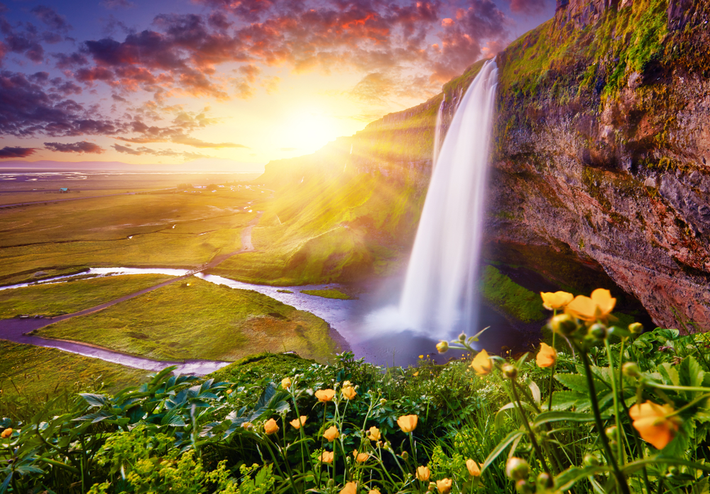 Seljalandsfoss waterfall during your 4 days in Iceland