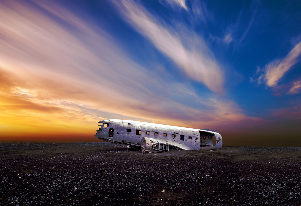 Solheimasandur plane wreck during your 4 days in Iceland