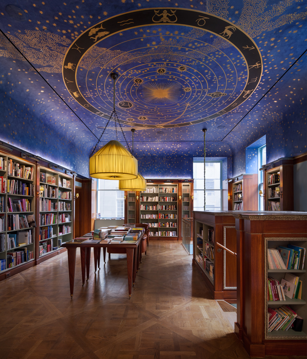 interior of albertine bookstore for romantic things to do in NYC
