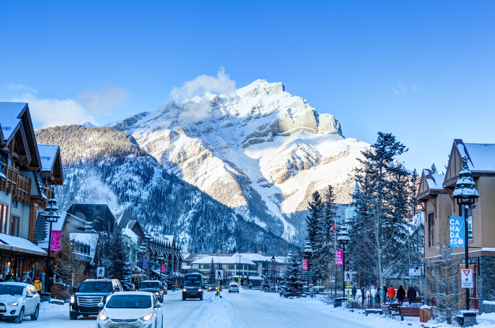Temperatures in Banff in winter are chilly, cold, and icy!