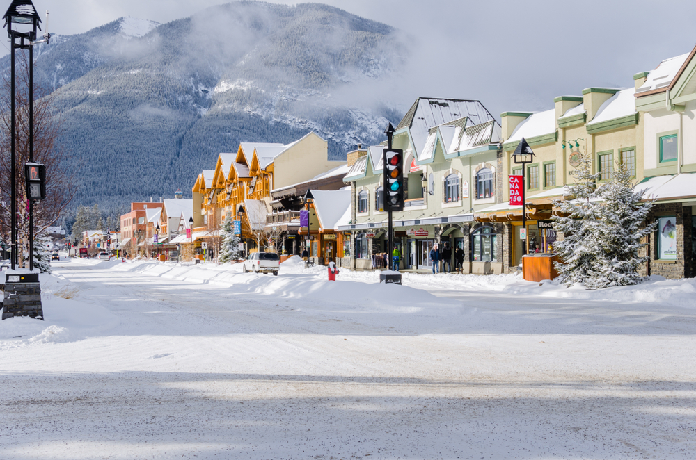 Banff's town center is so fun to explore!