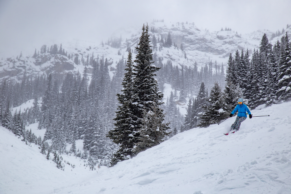 Skiing on Banff's three famous hills is a must!
