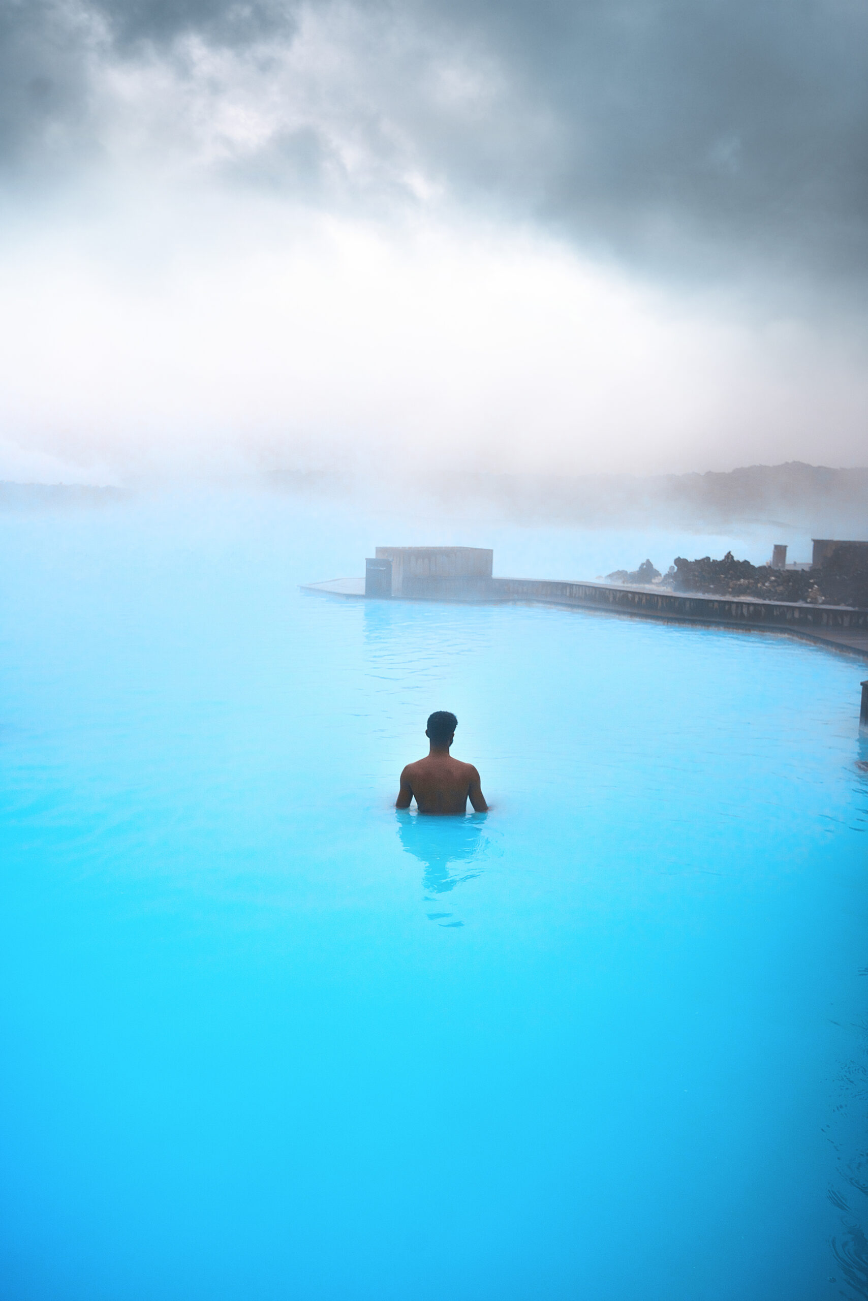 Photo of Terrence in Icelandic hot spring.