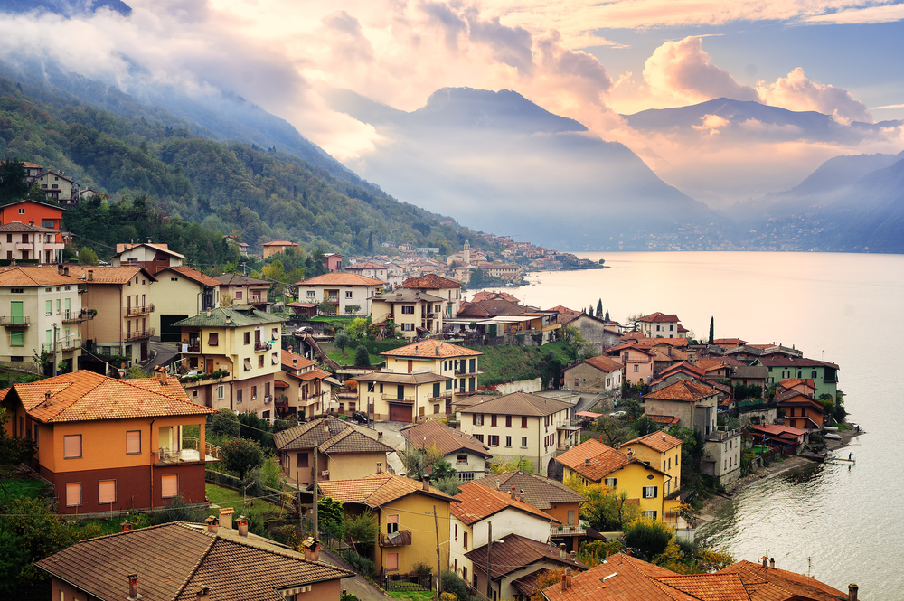 picturesque houses of Lake Como at dawn Northern Italy itinerary