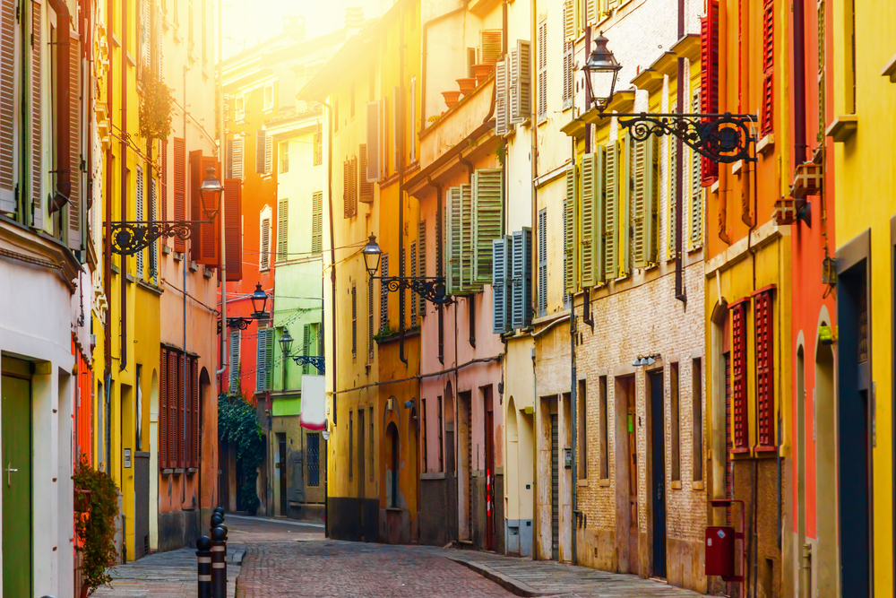 colorful side streets in Parma Northern Italy Itinerary