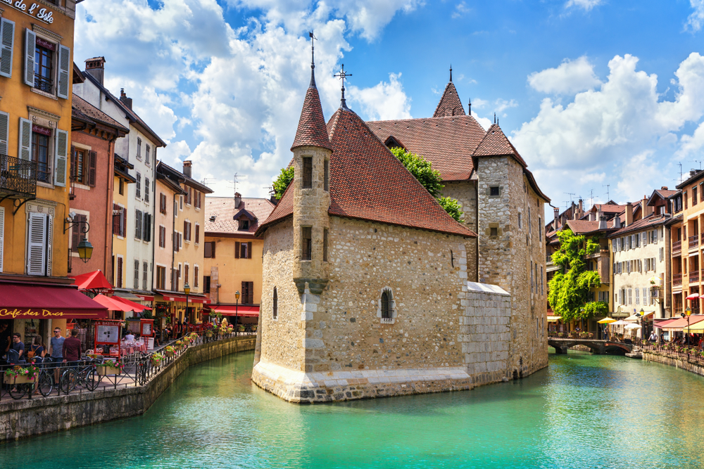 Set against a lake, Annecy is one of the most gorgeous towns in France