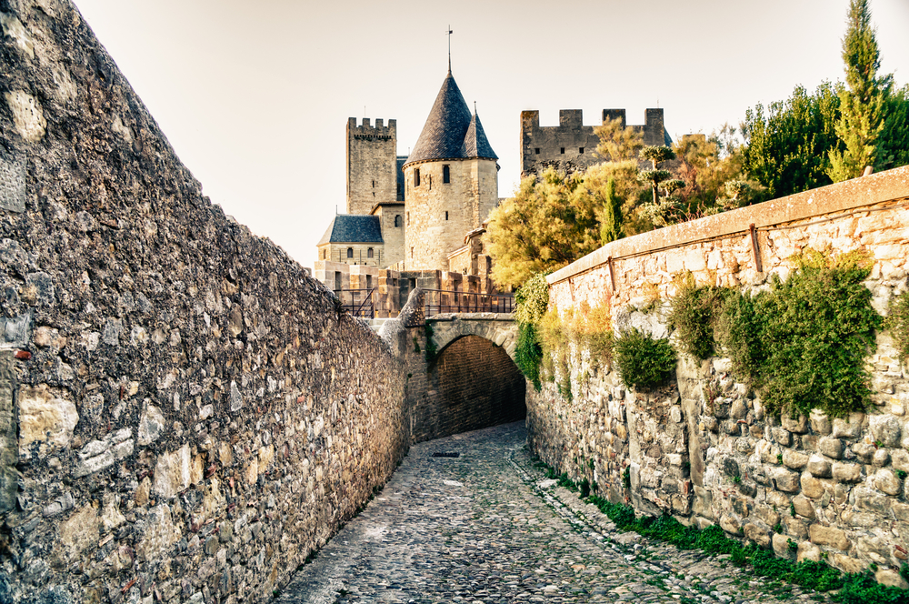 See the walls that makes Carcassonne one of the most visited towns in France