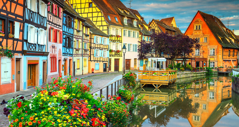 Colmar is filled with bright and colorful buildings