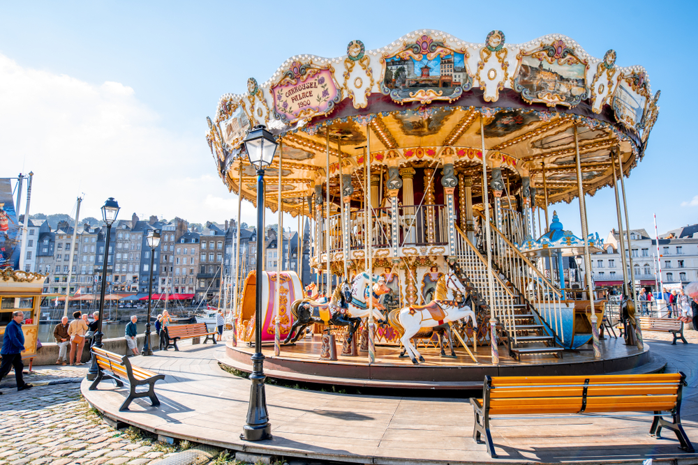 See the carousel that Honfleur is known for