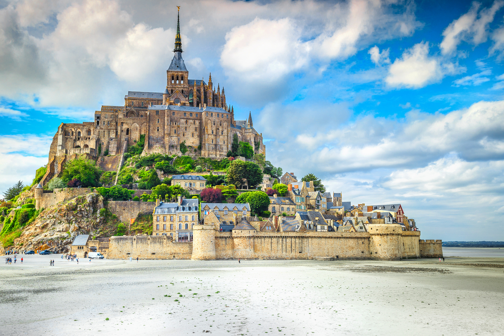 Mont Saint Michel is one of the few towns in France on an island