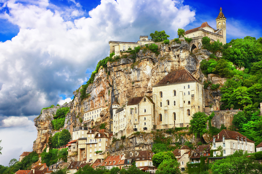 Rocamadour is built into the side of a cliff