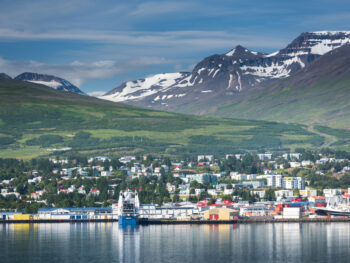 This beautiful landscape is from Akureyri, one of the amazing towns in Iceland
