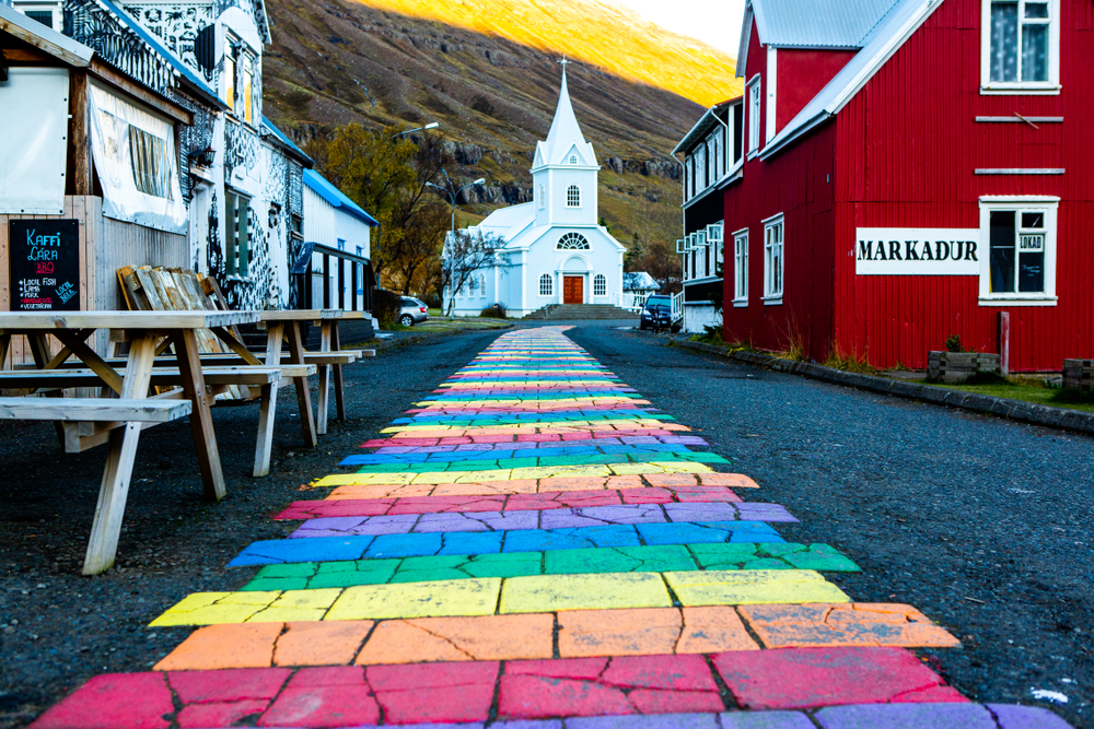 Seydisfjordur is one of the most cheery towns in Iceland