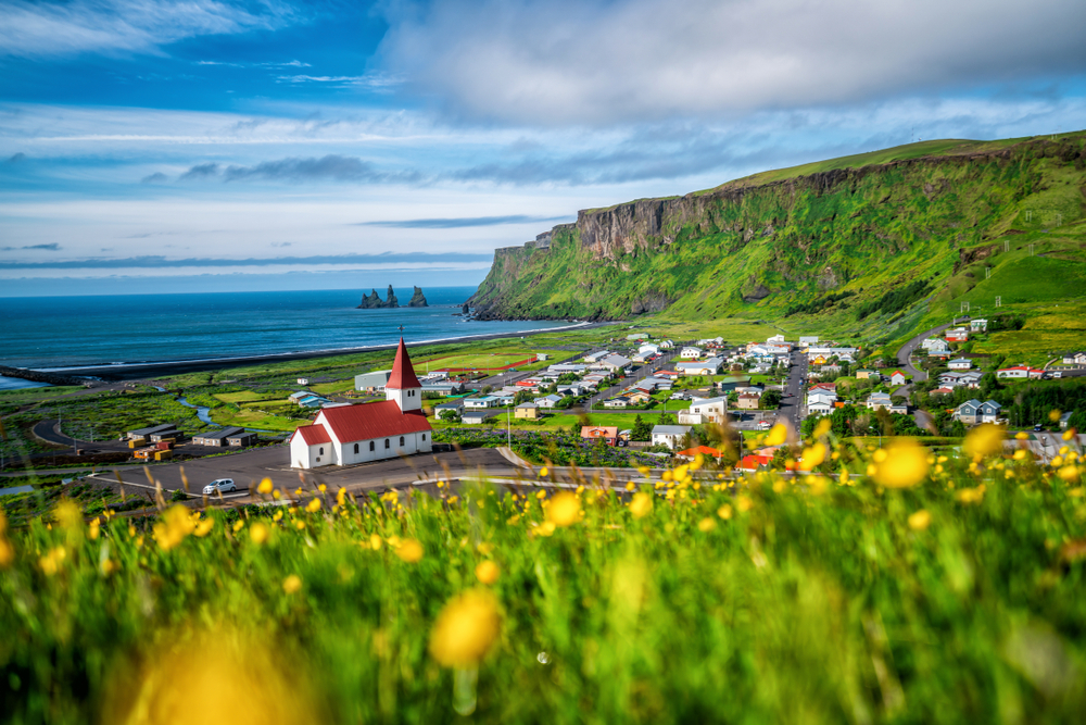 Vik is one example of the beauty found in all towns in Iceland