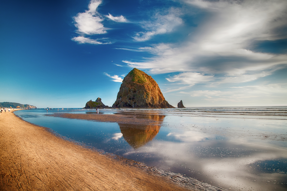 Haystack Rock at Cannon Beach on your Oregon coast road trip