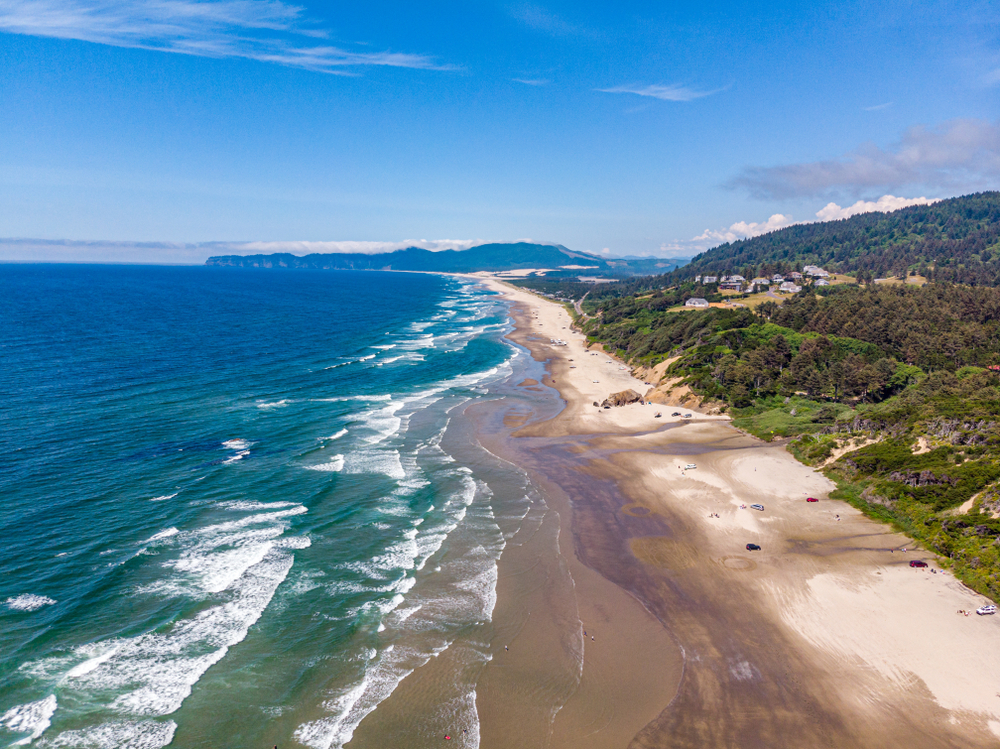 views of the Cape Kiwanda beach on your Oregon coast road trip