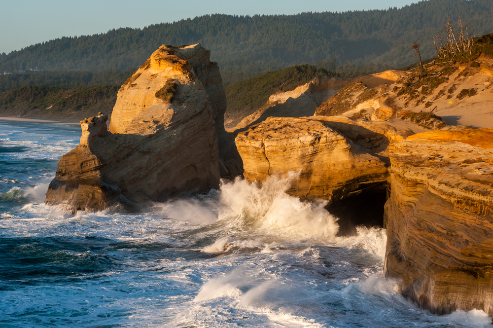 waves at Cape Kiwanda on your Oregon coast road trip