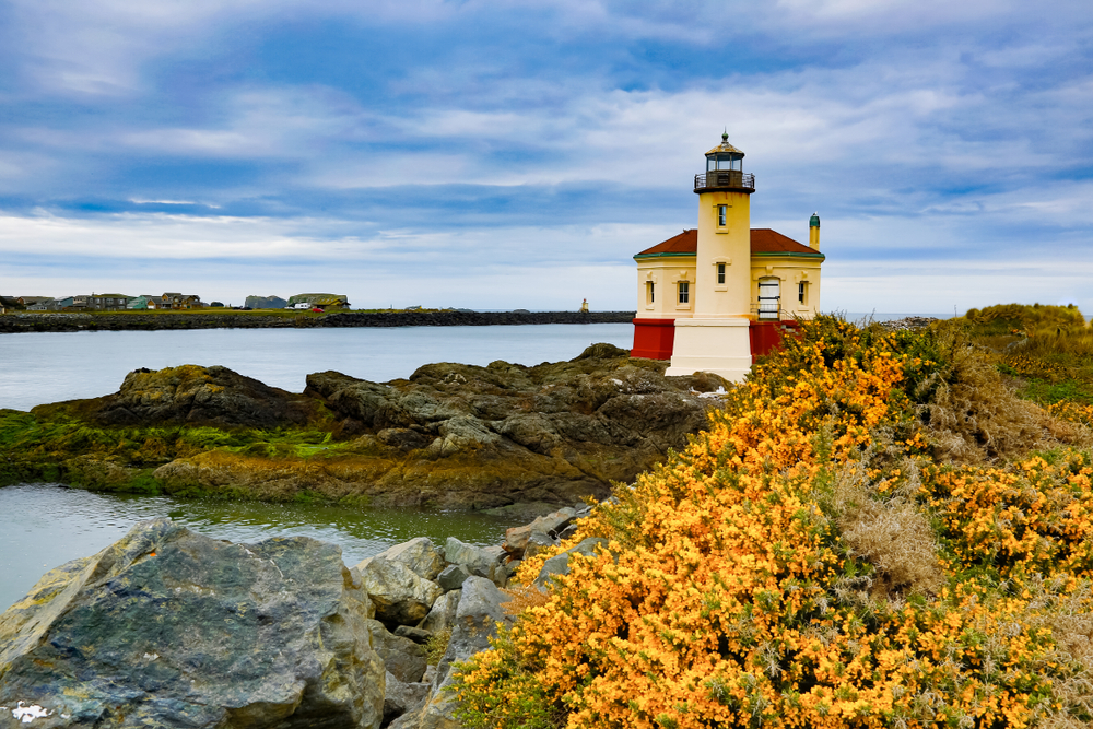 the Coquille River Lighthouse on your Oregon coast road trip