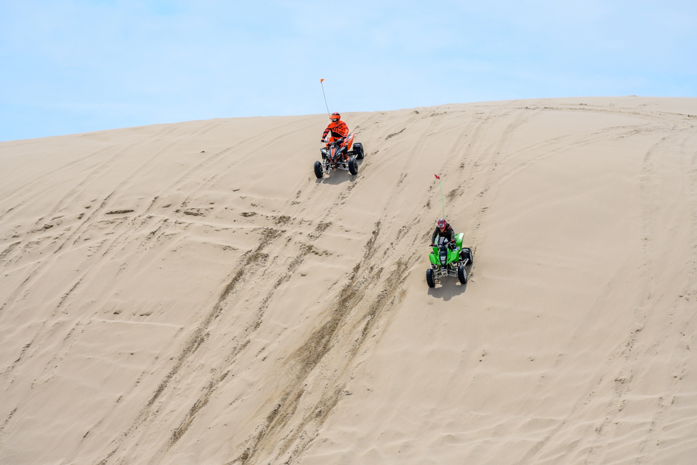 driving the dunes at Oregon Dunes National Recreational Area on your Oregon coast road trip