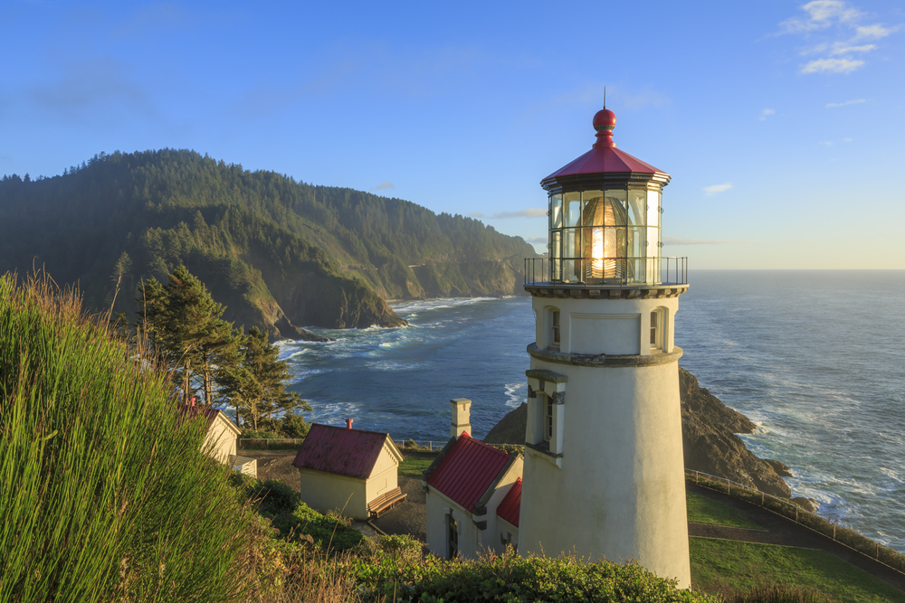 the Heceta Head Lighthouse on your Oregon coast road trip