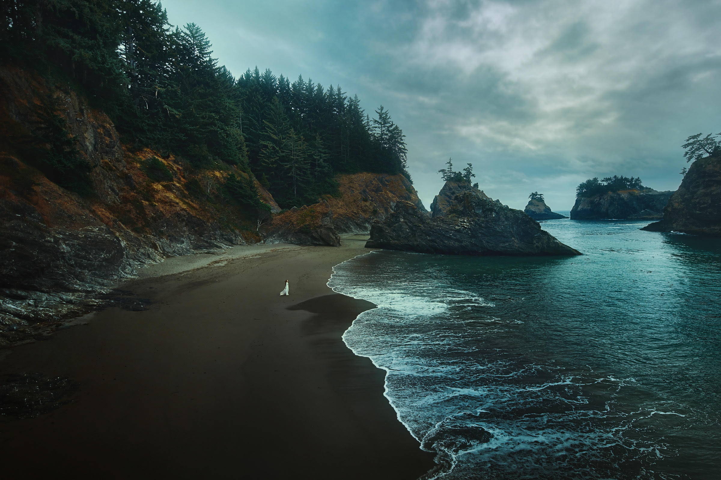 the Samuel H Boardman beach on your Oregon coast road trip