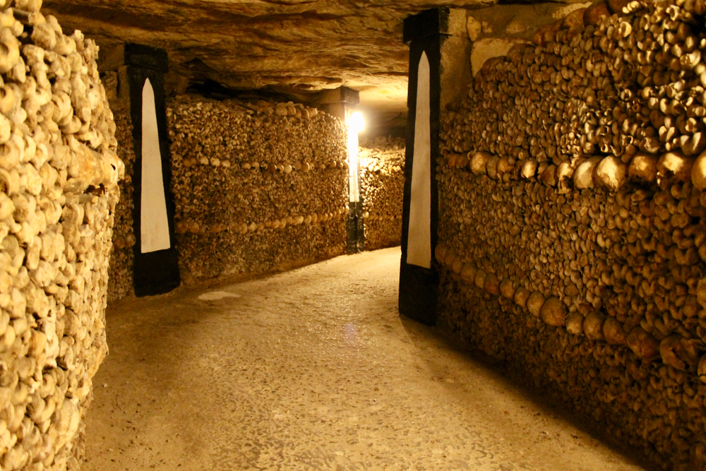 Paris at night catacombs