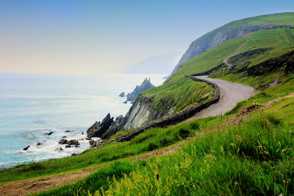 Photo of road along Slea Head drive in Dingle Peninsula