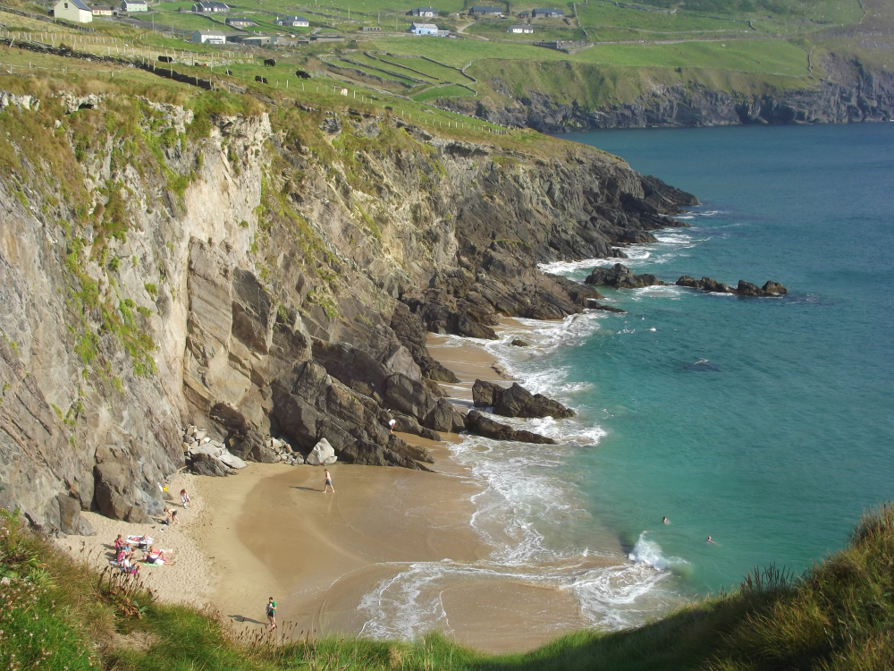 Photo of Coumeenoole Beach, a great stop along your Slea Head drive.
