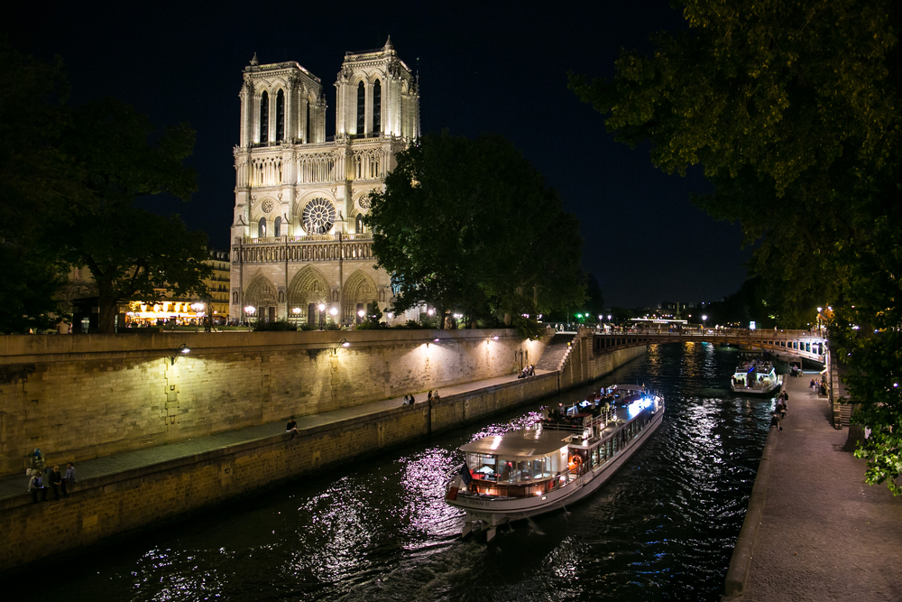 Seine River cruise Paris at Night