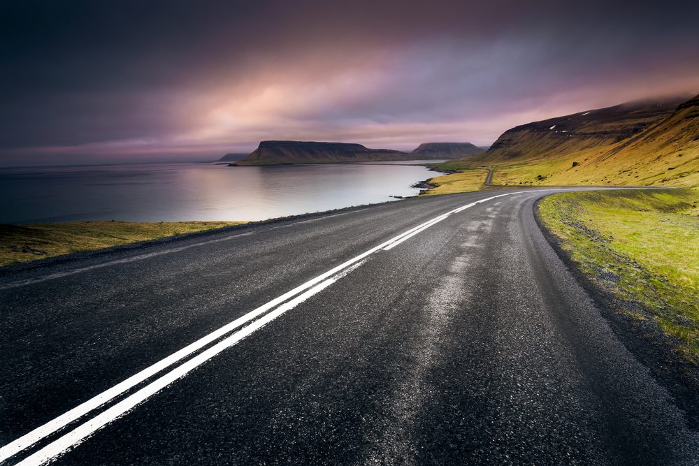Photo of the Ring Road, a great Iceland honeymoon activity.