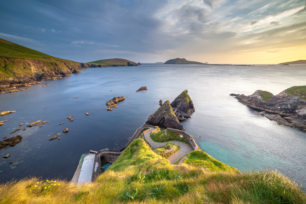Photo of Dunquin Pier, a beautiful place to see the sunset on Slea Head drive.
