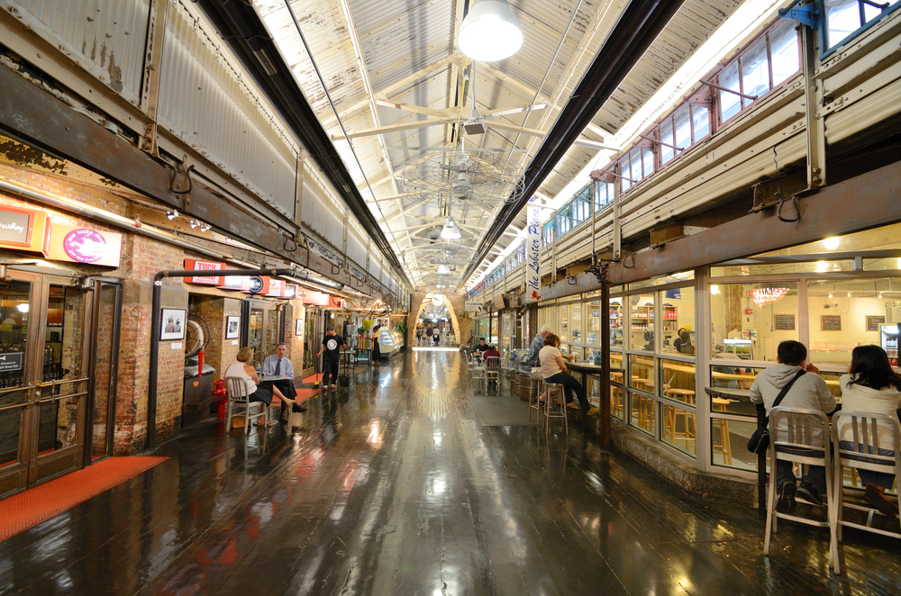 The inside of Chelsea Market during a non-busy time