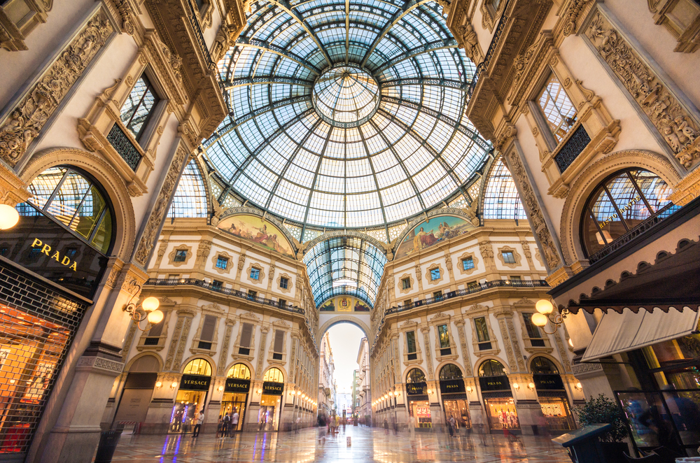 inside Milan Galleria 7 days in Italy