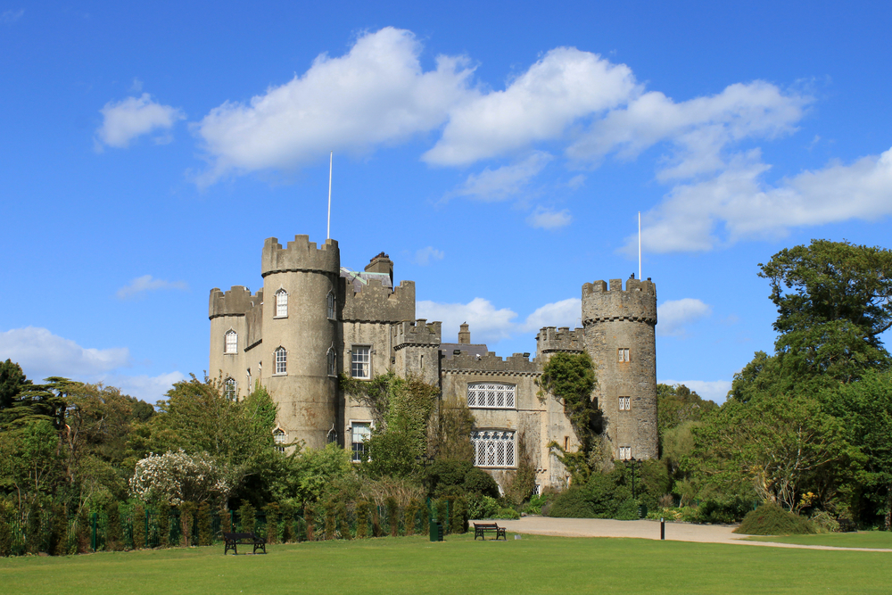 angled view of Malahide castle