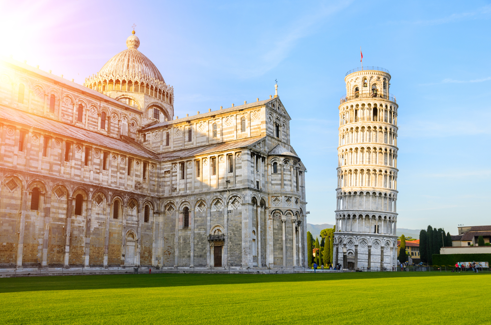 leaning tower of Pisa and nearby church day trips from Florence