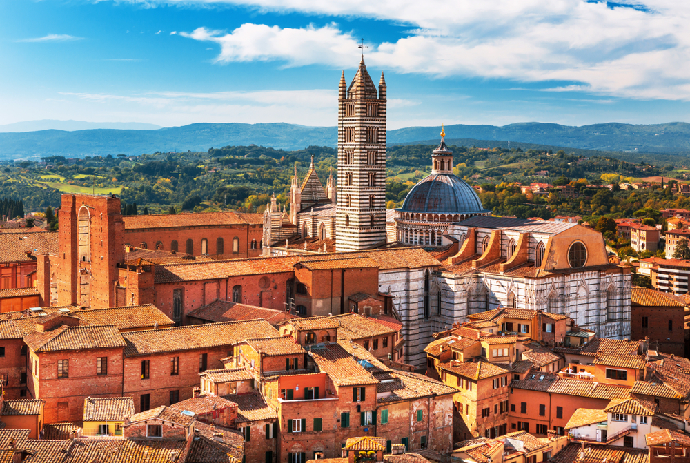Siena town with tower day trips from Florence