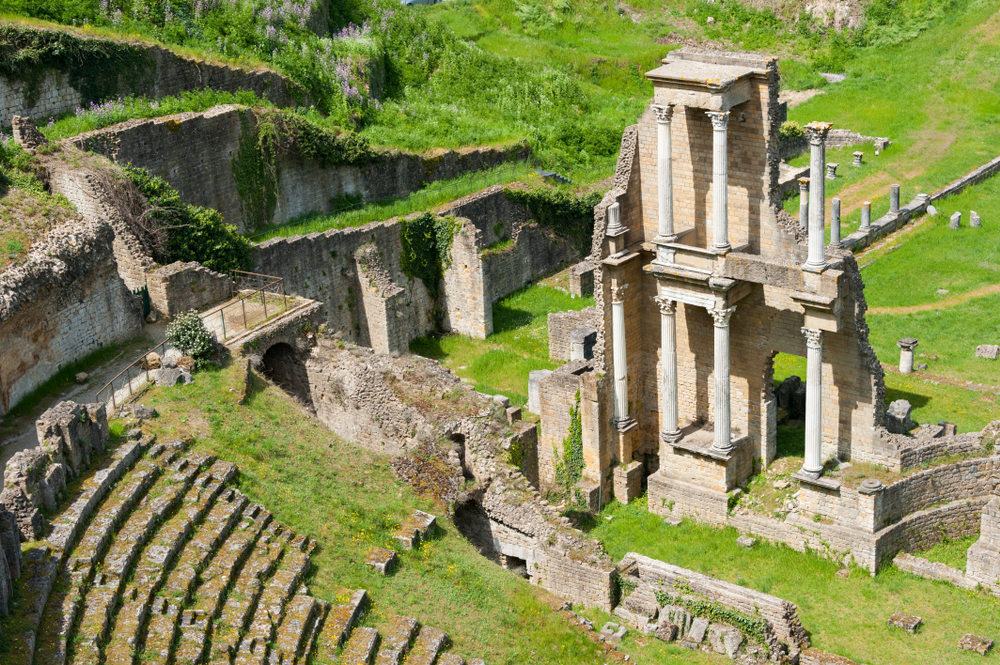 Roman ruins in Volterra day trips from Florence