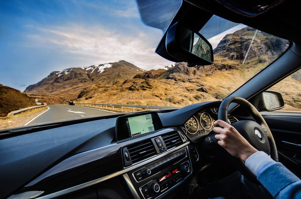 Scotland Road Trip Car Views