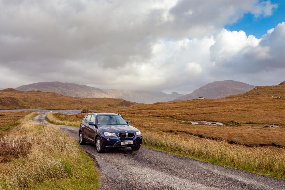 Scotland Road Trip Car on Road