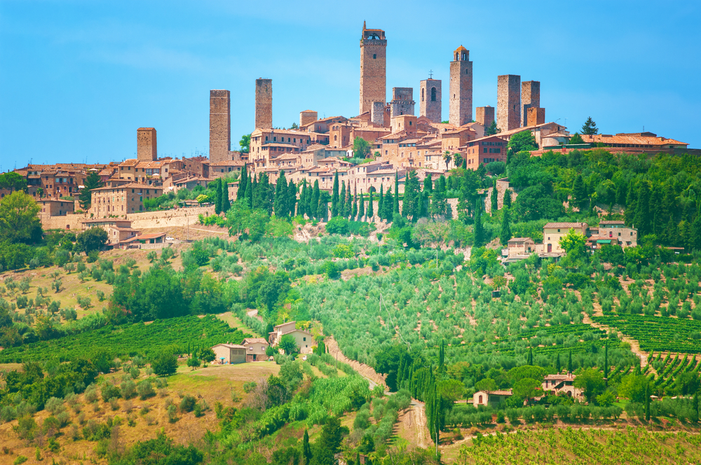 San Gimignano on of the oldest places in Tuscany