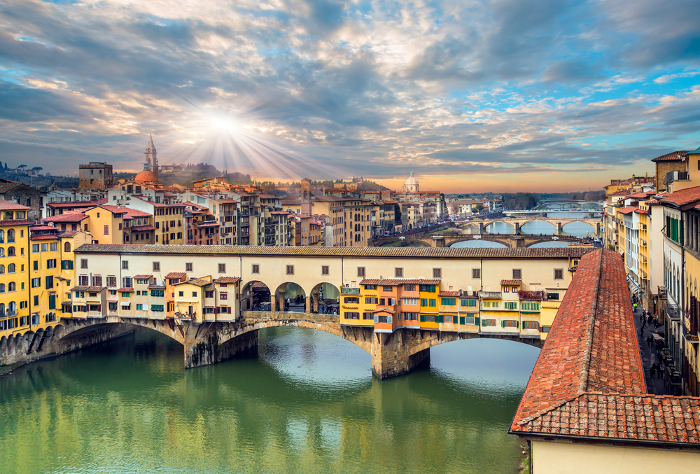 One of the things to do in Italy is stroll across the Ponte Vecchio