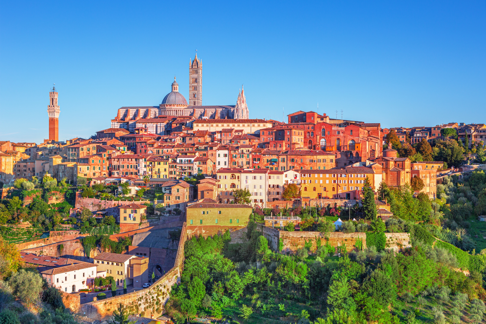 a view of Siena one of the places to visit in Tuscany
